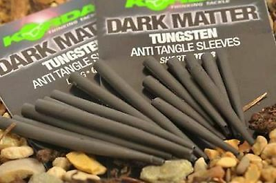 Korda Dark Matter Tungsten Anti Tangle Sleeves Long or Short Carp Fishing New