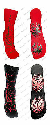 1/2 Kids Boys Xmas Novelty Cartoon Spider Man Thermal Socks Gripper Bed Slipper
