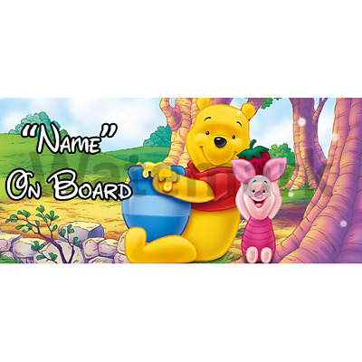 Winnie The Pooh Personalised Baby On Board Car Sign (4)