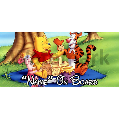 Winnie The Pooh Personalised Baby On Board Car Sign (3)