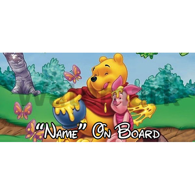 Winnie The Pooh Personalised Baby On Board Car Sign (1)