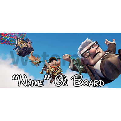 Disney UP Personalised Baby On Board Car Sign 3