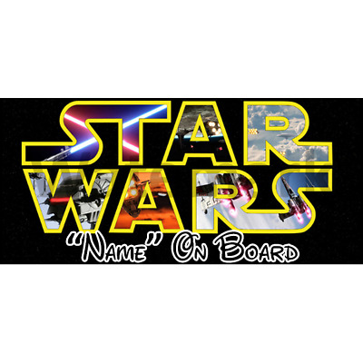 Star Wars Personalised Baby On Board Car Sign (6)
