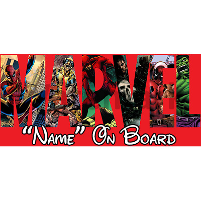 Marvel Personalised Baby On Board Car Sign (6)