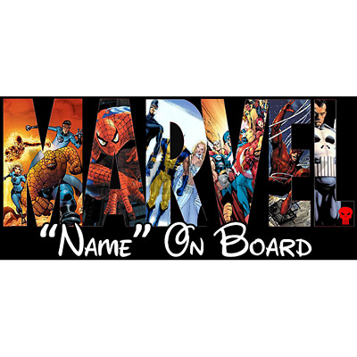 Marvel Personalised Baby On Board Car Sign (5)
