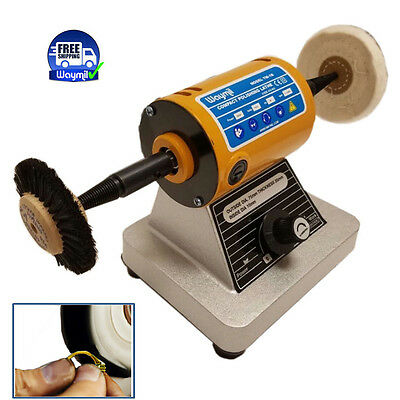 Bench Polisher Motor Jewelry Dental Polishing Buffing Lathe Variable Speed
