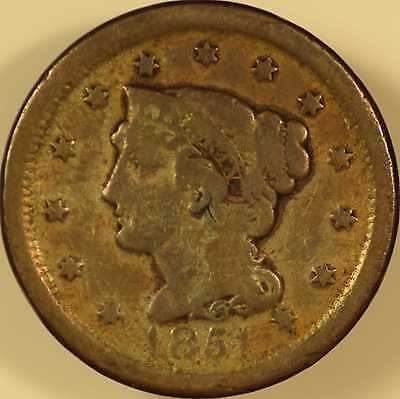 1851 Large Cent Very Good