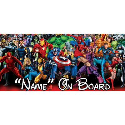 Marvel Personalised Baby On Board Car Sign (2)