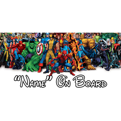 Marvel Personalised Baby On Board Car Sign (1)