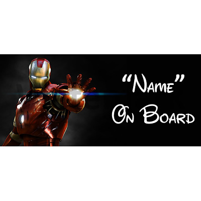 Marvel Ironman Personalised Baby On Board Car Sign (7)