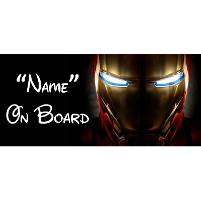 Marvel Personalised Baby On Board Car Sign 5
