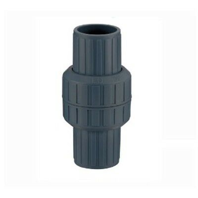 "LD PVC Spring Check Valve 1-1/2"" inch Socket *Easy disassembly*"