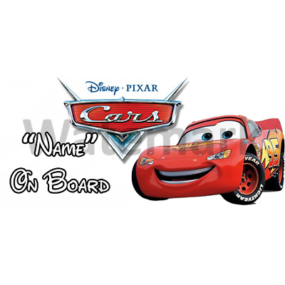 Disney Cars Personalised Baby On Board Car Sign (1)