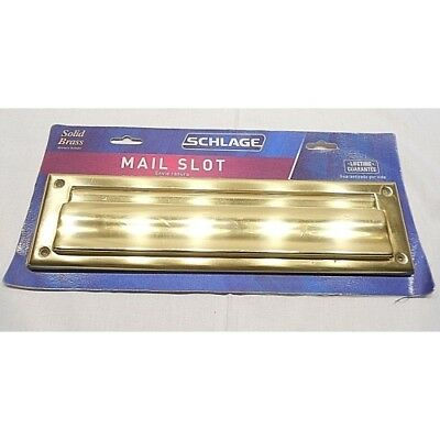 Schlage Lock SC620B3 2 x 11 Bright Brass Finish Slot / Magazine