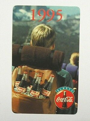 CALENDARIETTO TASCABILE / Pocket Calendar 1995 COCA COLA (cm 10x6)