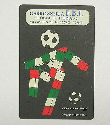 CALENDARIETTO TASCABILE / Pocket Calendar 1990 MONDIALI ITALIA '90  (cm 11x7)