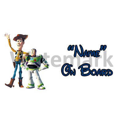 Disney Toy Story Personalised Baby On Board Car Sign (3)