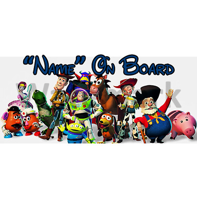 Disney Toy Story Personalised Baby On Board Car Sign (2)