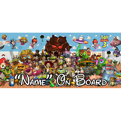 Disney Toy Story Personalised Baby On Board Car Sign (1)