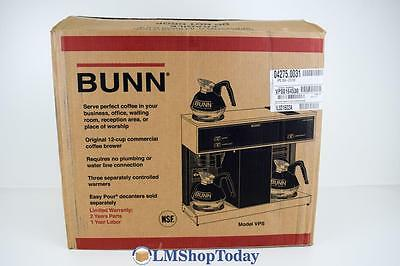 BUNN VPS 12-Cup Pourover Commercial Coffee Brewer with 3 Warmers 01672