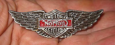 Vintage Norton Motorcycle Wings Insignia