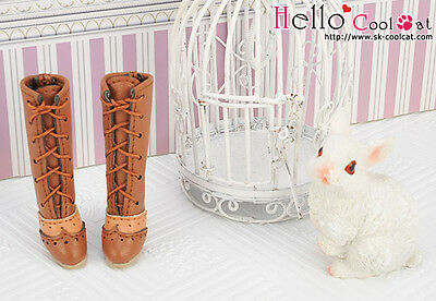 ☆╮Cool Cat╭☆【07-04】Blythe Pullip  High Heel Boots.Brown