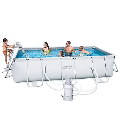 "Bestway Above Ground Steel Frame Swimming Pool 159""x79""x39.5"" with Sand Filter"