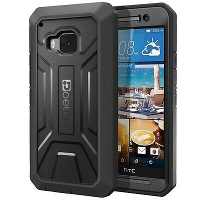 Poetic Revolution Rugged【Built-In Screen】Protector Case For HTC One M9 (2015)