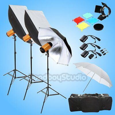 Godox Smart 900W (3X 300W) Studio Flash Strobe Lighting Trigger Kit 220V 230V