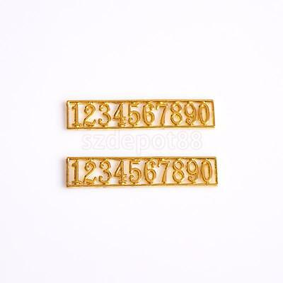 Dollhouse Miniature Gold Metal HOUSE FRONT DOOR HOTEL ROOM NUMBERS 0-9 12th