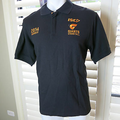 GREATER WESTERN SYDNEY GWS GIANTS Players Polo Shirt  Mens Size L