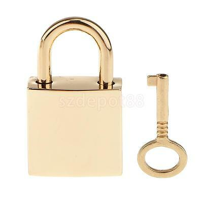 1 X Small Metal Square Padlock Mini Siver Tiny Box Locks With Keys Golden