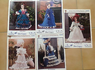 "Doll Knitting Patterns Jacquay Yaxley's  Period Costumes For 15"" Dolls  X 5"