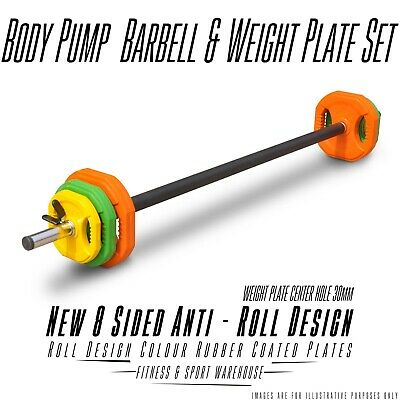 NEW Cross-fit Barbell Body Pump Plate Set Fitness Gym Exercise Equipment