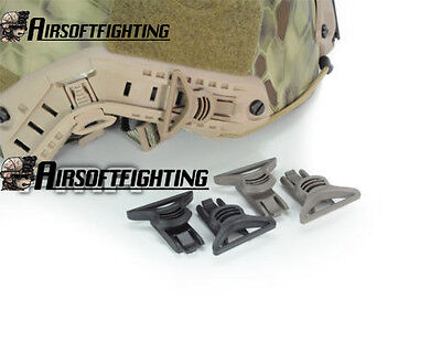 Airsoft Goggle Strap 36mm Swivel Clips Wide Helmet Rail Mount for Fast ACH-ARC