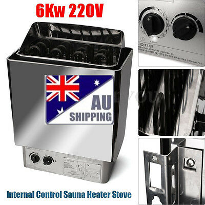 6KW Sauna Heater Stove Kit Stainless Steel Internal Control For Bath Shower SPA