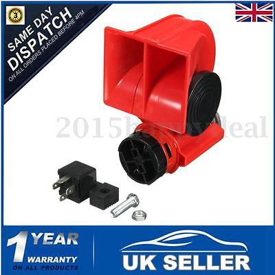 UK 12V 150db Car Air Horn Blast Compact Twin Tone Loud Horn Truck Lorry SUV Boat