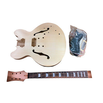 ES Mahogany HY230 Semi-Hollow body Electric Guitar DIY Kit for Student / Luthier