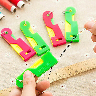 3Pcs Automatic Elderly Use Easy Sewing Needle Device Threader Thread Guide Tool