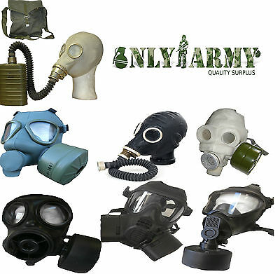 Various Army Gas Masks World Surplus Soviet British Finnish S10 M2 M59 GSR FM12