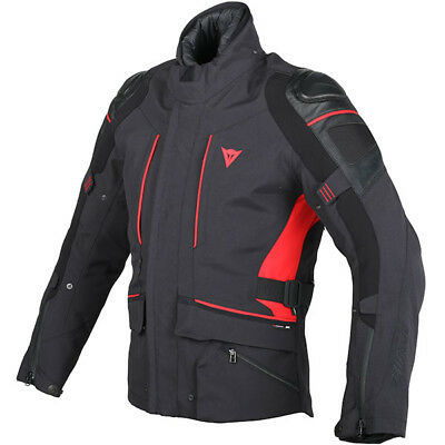 Dainese D-Cyclone Gore-Tex G2 Wave Waterproof Motorcycle Jacket - Black / Red