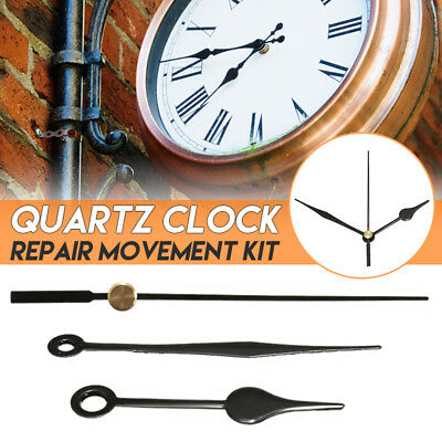 Replacement DIY Wall Mechanism Quartz Clock Movement Black Hands Repair Kit