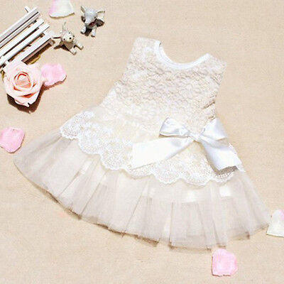 0-24M Kids Toddler Baby Girls Party Princess Pageant Tutu  Bow Flower Dresses