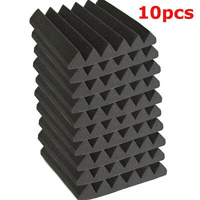 10Pzs 30X30X5cm Absorbedor Espuma Acustica Paneles Soundproof Foam Studio Pared