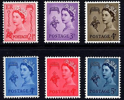 GB 1958-69 Guernsey Pre-Decimal Basic Definitive Set of 6 Unmounted Mint
