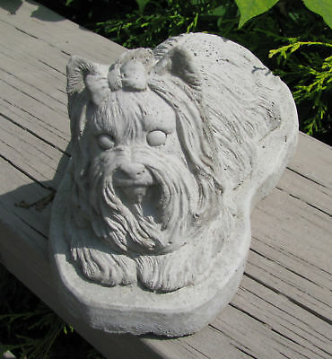 Concrete Yorkie Statue Or Use As A Monument