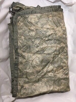 US MILITARY  PONCHO LINER Woobie Blanket ACU DIGITAL Made in USA  Heavily Faded