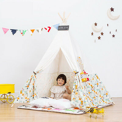 2016 Kids Childrens Indoor Outdoor Indian Wigwam Tepee Play House Tent