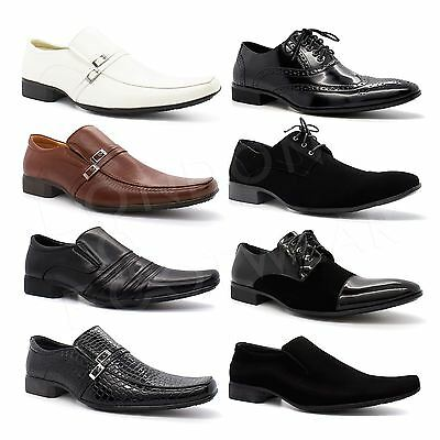 New Mens Smart Formal Office Wedding Shoes Italian Party Dress Work Casual Size