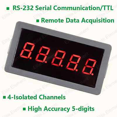 RS232 TTL Voltmeter High Accuracy 500V Remote Data Acquisition On-line Working